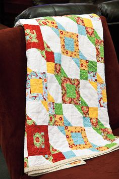 Another quilt using the Delighted Fabric. I found this one online while I was looking for something to sew tonight.