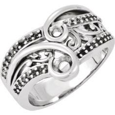 121095 / 14kt X1 White / RHR / Polished / RIGHT HAND RING MOUNTING