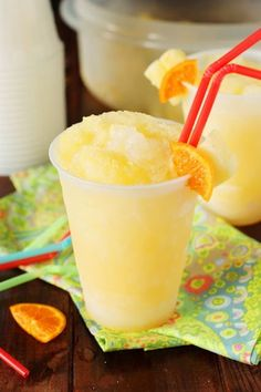 With its refreshing citrus taste and super-cool slushiness, Rum Slush is simply perfect for sipping on those hot summer days.   www.thekitchenismyplayground.com
