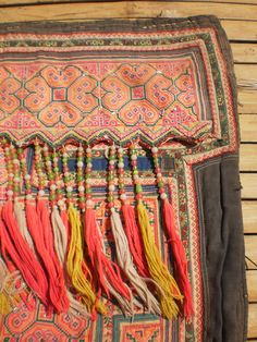 Hmong baby carrier embroidery
