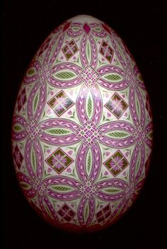 pysanky - lovely color combination and design!
