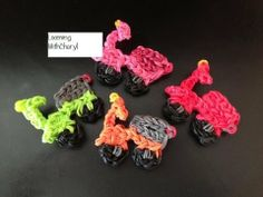 Rainbow Loom MOPED SCOOTER charms. Now on YouTube! Subscribe ❤️❤️ http://m.youtube.com/user/LoomingWithCheryl