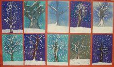 Winter Wonderland Painting Lesson Plan: Painting for Kids - KinderArt: