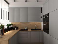 Kitchen Modular, Loft Kitchen, Kitchen Room Design, Kitchen Cabinet Design, Modern Kitchen Design, Home Decor Kitchen, Interior Design Kitchen, Home Kitchens, Taupe Kitchen