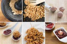 Bombones de foie y mermelada - 2 Tapas, Queso, Cereal, Oatmeal, Breakfast, Recipes, Food, Strawberry Jam, Strawberry Fruit