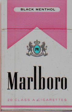 Pink cigarettes- for reals? black menthol- want.