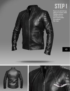 #Chaqueta modelo Step 1 talla XS (S slim-fit) #moda #cuero
