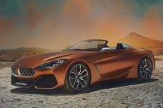 The BMW Concept Z4 was unveiled at the 2017 Pebble Beach Concours d'Elegance. The production version of the BMW Z4 Concept car will be revealed next year.