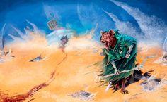 Hiena cazadora del desierto., Carlos González Domínguez on ArtStation at https://www.artstation.com/artwork/J8yBv