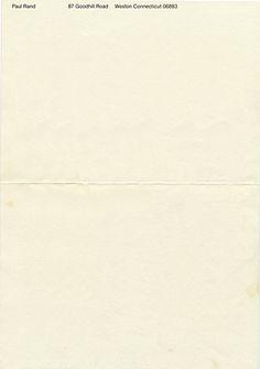 Paul Rand's own letterhead -- very minimal