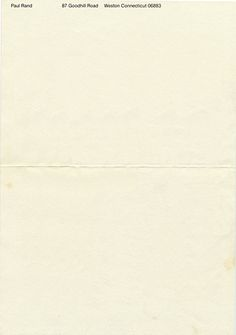 paul rand letterhead
