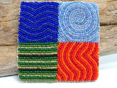 Bead Embroidered Art Four Elements by beadn4fun on Etsy