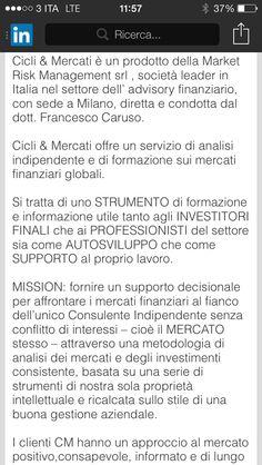Conoscere il sevizio di #cicliemercati .... www.cicliemercati.it