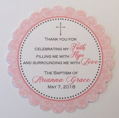 Christening/Baptism/First Communion Favor Tags/Confirmation Favors - Baptism Favor Tags - Christening Favors - Baptism Favors