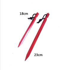 Tent Nail 18cm-23cm New Aluminium Alloy Tent Pegs C&ing Hiking 24 hours dispatch  sc 1 st  Pinterest & New 50 Heavy Duty Metal Tent Pegs/Stakes Aluminium Hard Ground ...