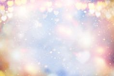 Holiday abstract pastel glowing blurred background blur, bokeh. Valentine Hearts. Stock Photos