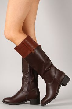 Alto-03 Two Tone Riding Knee High Boot