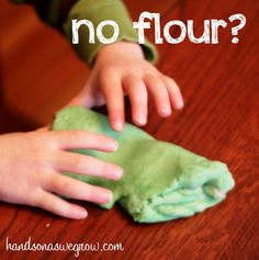 How to make playdough with pancake mix instead of flour.