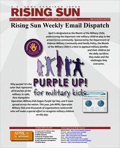 Rising Sun Weekly Email Dispatch for the week of April 11, 2017 (Volume 4, Number 1)  Weekly Informational Newsletter