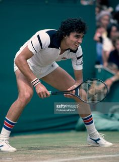Victor Pecci of Paraguay in action during the Wimbledon Lawn Tennis Championships at the All England Lawn Tennis and Croquet Club, circa June, 1979 in London, England. Get premium, high resolution news photos at Getty Images Tennis Photos, Sports Photos, Tennis Rafael Nadal, Lawn Tennis, Bjorn Borg, Tennis Championships, Tennis Fashion, Wimbledon, Tennis Players