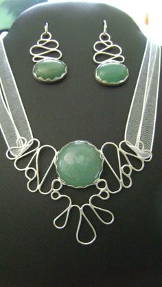 PRIDE Gift Set - Green Aventurine and Sterling Silver Pendant and Earrings, by truformjewelry, $255.00