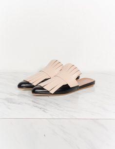 Sabot Fringed Leather Slides | Marni