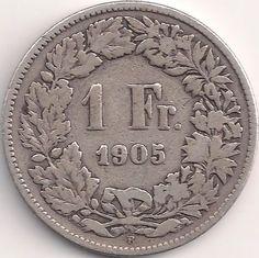 Wertseite: Münze-Europa-Mitteleuropa-Schweiz-Franken-1.00-1875-1967