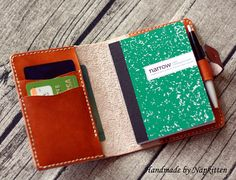 Leather journal notebook cover PATTERN Moleskine cover diary