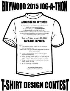 6a886f64c Jog-a-thon T-Shirt Design Contest - Deadline on Friday, January 2015