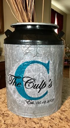 Repurposed popcorn tin with tissue paper & Modge Podge! Popcorn Tins, Recycled Crafts, Tissue Paper, Repurposed, Upcycle, Recycling, Magic, Crafty, Boutique