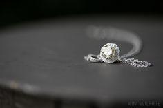 Necklace detail for bride.