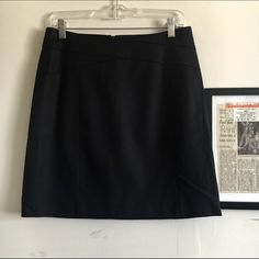 BR Black A-Line Skirt Like New BR A Line black skirt with top detail. Banana Republic Skirts A-Line or Full