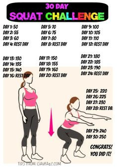 30 Day Squat Challenge!!  JUST DO IT! #weightlossfast
