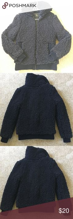 Black Fuzzy Zip Up Jacket Super soft and fluffy jacket. Never worn. Cotton On Jackets & Coats