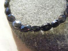 Black Spinel and Sterling Silver Bracelet., £15.50