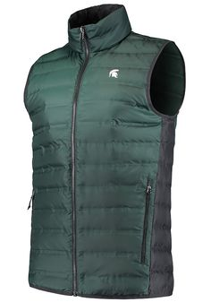 best sneakers 6e26a ae519 Columbia Michigan State Spartans Mens Green Lake 22 Sleeveless Jacket -  2070258