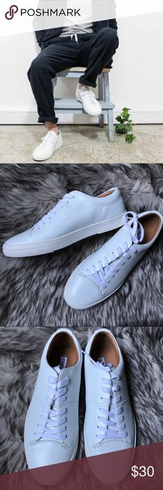 Steve Madden White Leather Sneakers 10/10 condition. Never worn. I love the look and feel of these sneakers but they're too big for me. Listed as an 11 because I think they run small but technically they're a size 12. Looks very very similar to Common Projects minus the gold numbers but for far less money. White shoes are the must have right now, looks fly with everything. If you need anything drop a comment and I'll get back to you right away. Bundle and save, I might even throw in a…