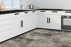 BuildDirect – Italian Porcelain Tile - Slate Series – Gris - Kitchen View
