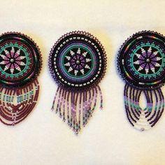 Turquoise-infused round beaded barrettes, livmariebeads, (Olivia Agnes) Koyukon Athabascan #livmariebeads / on Etsy