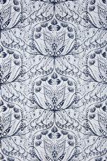 Wallpaper by ellos Anna-Lisa-tapetti Keltainen, Keskiharmaa, Tummansininen - Kuviolliset | Ellos Mobile