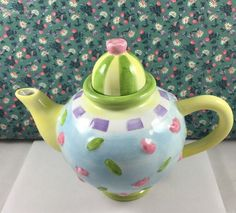 Oneida Teapot Miniature (Child's) Hand painted Decorative Tea Party