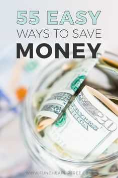 Use these 55 easy ways to save money FAST from Fun Cheap or Free! Money Saving Tips