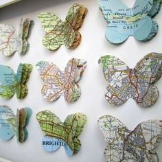 DIY Map Butterflies by rosella