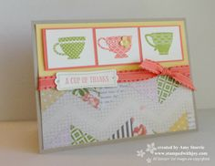 Stampin up A Cup of Thanks
