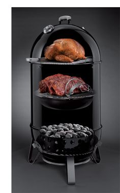 Weber Smokey Mountain Cooker 22-1/2-Inch Charcoal Smoker!  This is an AWESOME smoker! Gave to my husband for his birthday and we haven't stopped using it. LOVE iT!