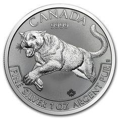 2016 Canada 1 oz silver coin Predator Series - Cougar.