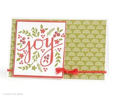 CTMH Joy Card using #ctmhwhitepines