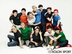 EXO modeling Kolon Sport for InStyle special edition, June 2014 issue Exo Bts, Kpop Exo, Baekhyun Chanyeol, Park Chanyeol, K Pop, Park Shin, Kim Jong Dae, Exo Group, Wu Yi Fan