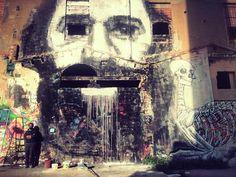 Luca Zamoc & Collettivo FX & Gola Hundun in Barcelona, Spain, 2015 Urban Art, Graffiti, Street Art, Barcelona Spain, Murals, Spanish, Painting, Wall Murals, Painting Art