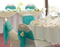 Teal and coral wedding ideas